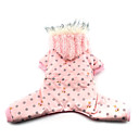 Dog Coat / Hoodie / Clothes/Clothing Pink Winter Polka Dots