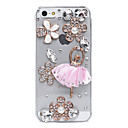 Ballet jupe modèle de fleurs cas de dos de bijoux en métal pour l'iPhone 5/5S