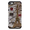 2-in-1 Design Torre Eiffel e Custodia protettiva Bollo Pattern for iPhone 5/5S