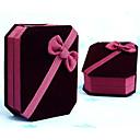 6.5x8cm Red Velvet Jewelry Necklace Bracelet Gift Box