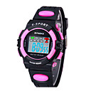 Children's SYNOKE LEO Dial Digital PU Band Water Resistant Wrist Watch