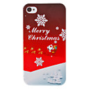Christmas Series Father Christmas and Snowflake Pattern Hard Case for iPhone 4/4S