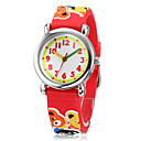 Children's 3D Cartoon Cubs Patroon siliconen band Little Round Dial Quartz Analoog polshorloge