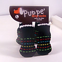 Black Lovely Cotton Sock Pet Socks Anti-Slip for Pets Dogs and Cats