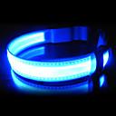 Röd / Grön / Blå / Gul - LED Lampor / Infällbar - Nylon - Halsband - till Hundar / Katter