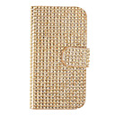 Wallet Style PU Leather with Magnetic Buckle and Card Slot Shell for Samsung Galaxy S4 I9500/I9505 (Gold)
