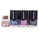 3ST Candy färg nagellack med 1 flaska 3D Fimo Slice Fruit Dekoration Nail Art Set nr 8