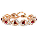 Victoria Czech Crystal Golden Plated Chain Bracelet