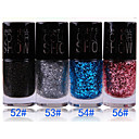 Organic Green Glitter Nail Polish No.52-56 (1PCS 12ml, colores surtidos)