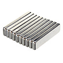 20 x 5 x 2mm Kraftfuld NdFeB magneter - Sølv (10 stk)
