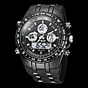Men's Watch Military Water Resistant Dual Time Zones Analog Digital Watch Calendar LCD Alarm Multi-Function Cool Watch Unique Watch
