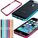 Cas Pure Color mentale Frame pour iPhone 5/5S (couleurs assorties)