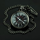 Męska Black Dial Ciemny Felgi Quartz Pocket Watch