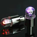 fjqxz mengubah warna rekayasa keselamatan plastik katup lampu untuk sepeda - 2 lembar