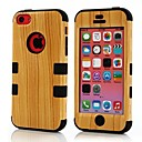 Wood Grain Pattern Hard Full Body Detachable Case for iPhone5/5S