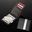 Henkilökohtainen lahja Miesten Musta PU Leather Metal Money Clip (vajaan 8 merkkiä)