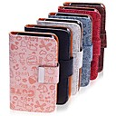 Lureme Cartoon Girl PU Leather Full Body Case For iPhone 4/4S (Assorted Color)