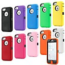 Colorful Heavy Duty híbrido resistente Matte Hard Case Capa Mole pele para iPhone 5C