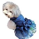 고양이 / 개 드레스 레드 / 블루 / 골드 여름 / 모든계절/가을 솔리드 / 스팽글 웨딩