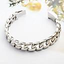 pulsera de cadena de cable de acero inoxidable 316l de plata de la moda y simples de los hombres