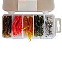16 Pcs Soft Bait 32G 65mm señuelos de pesca Pack (color al azar)