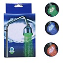 LED 3 Colors Water Temperature Visualizer Sensor Round Shower Head