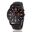 Męska Duży Okrągły Dial Czarny Pasmo silikonowy Wrist Watch Quartz (różne kolory)