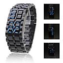 Buy Men's Watch Faceless Blue LED Lava Style Digital Plastic Band Wrist Cool Unique Fashion