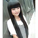 Capless High Temperature Fibre lange lige Synthesis hår fuld Bang Parykker 3 farver