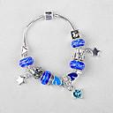 Blå Bead Strand Charm Bracelet