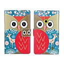 Cute Cartoon Owls Pattern Hard Case with Magnetic Snap and Card Slot for Nokia Lumia 520