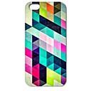 caso difícil de diamantes padrão de quebra-cabeça colorido para iphone 4 / 4s