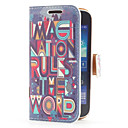 Imagination Rules the World Style Leather Case with Card Slot and Stand for Samsung Galaxy Ace 3 S7270/ S7275 /S7272