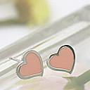 Vintage Cute Heart Shape Stud Earrings(1 Pair)