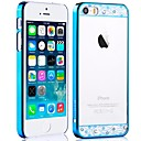Comma Crystal Series Electroplated Transparent PC Hard Case for iPhone 5/5S (Assorted Colors)