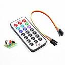 IR Receiver Module Wireless Remote Control Kit -Encoding IR RC Module + HX1838+N Receiver Set for Arduino