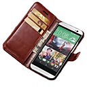 Luxury Vintage Wallet Stand Design PU Leather Case for HTC One M8 with Card Holders