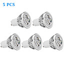 5 pcs GU10 4W 4 High Power LED 330 LM Warm White MR16 LED Spotlight AC 85-265 V