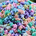 Z&X®  DIY Beads Material Ice Cream Color Stars Shaped Beads 11MMX11MMX4MM 100 PCS(Random Color, Pattern)
