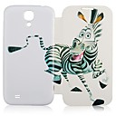 CaseBox ® Zebra Pattern Full Body Veske til Samsung Galaxy S4 I9500