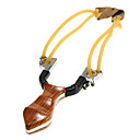 Rosewood Hunting Slingshot with Rubber Band with 3 Balls