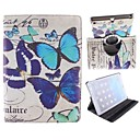 Many Butterfly Pattern 360 Degree Rotating PU Leather Case with Stand for iPad Air