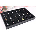 Classic Beautiful Necklace Jewelry Stand Black Paper Flannelette Jewelry Boxes(1 Pc)