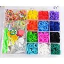 telar colorido arco iris (incluyendo banda de goma 2400 pcs, s hebilla, pequeño colgante, herramientas y tejer, ganchillo)