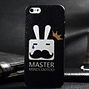 3D Crown Beard Rabbit Painting Relievo PC Hard Case for iPhone 5/5S