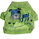 Dog T-Shirt - XS / S / M / L - Summer - Green - Cosplay - Cotton