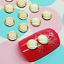Buy 10White Round Design Studs Gold Line Nail Art Decoration