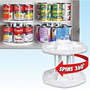 Buy White Plastic 2 Layers Detachable 14 Capacity Can Tamer Storage Organizer