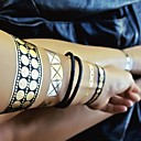 1Pcs Bracelet Necklace Jewelry Inspired Metallic Gold Silver and Black Tattoo Stickers Temporary Tattoos