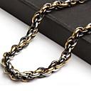 z&X® personalidad de la moda de los hombres de gran longitud policíclicos tres colores collares de titanio de acero